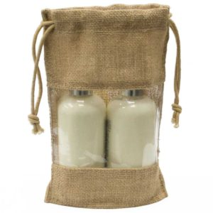 burlap-packaging-bag for cosmetic